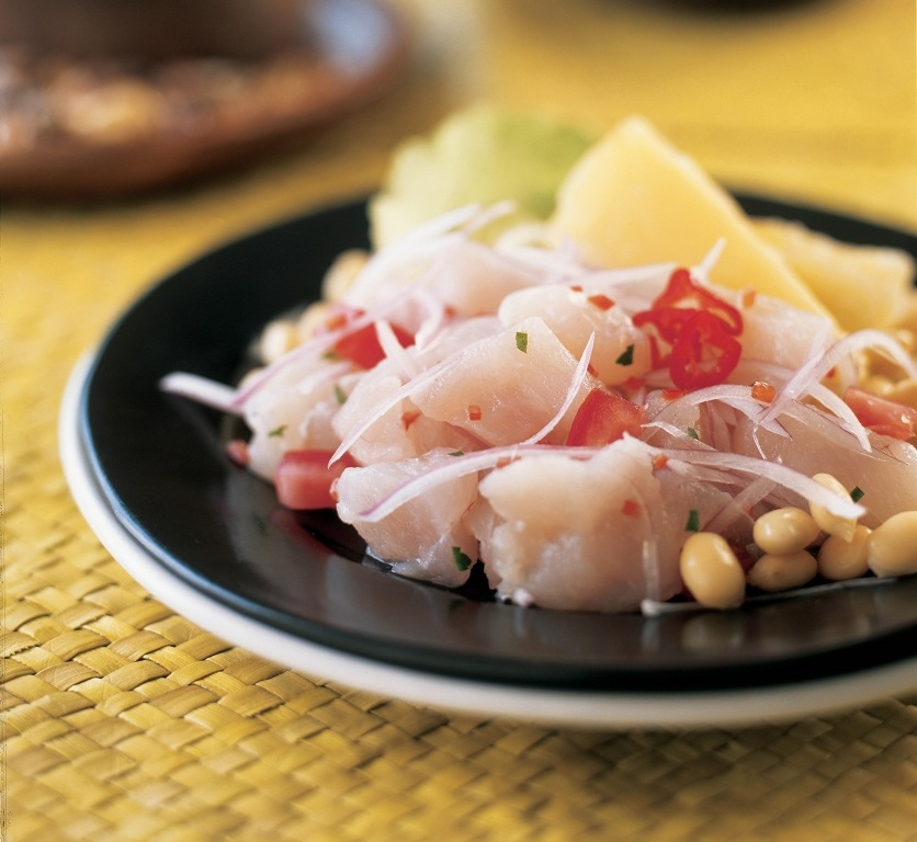 Comida Típica Peruana: Cebiche De Mero