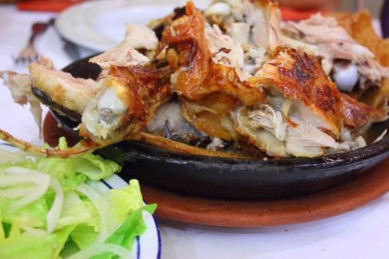 Lechazo churro asado. Tasting Palencia