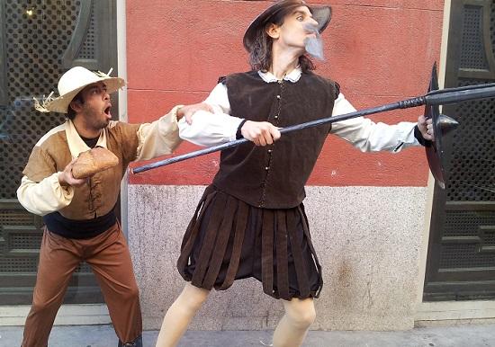 De tapas con Don Quijote y Sancho Panza