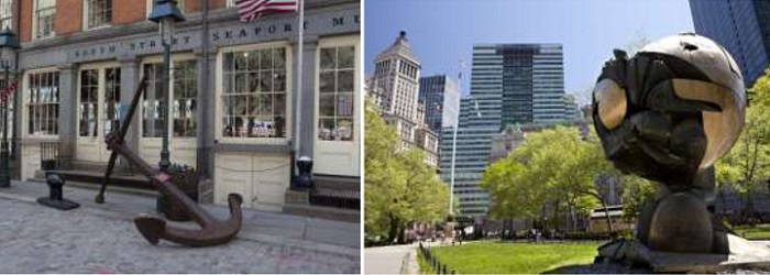 South St. Seaport y Battery Park. Bajo Manhattan