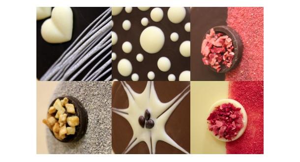 Detalles de las piruletas de chocolate