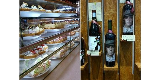 Tapas en Cadillac y botellas de vino de Open Wine