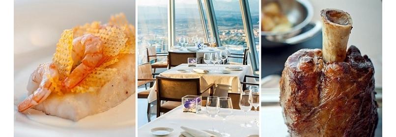 Gastronomía 'de altura' en el restaurante Espacio 33. Madrid