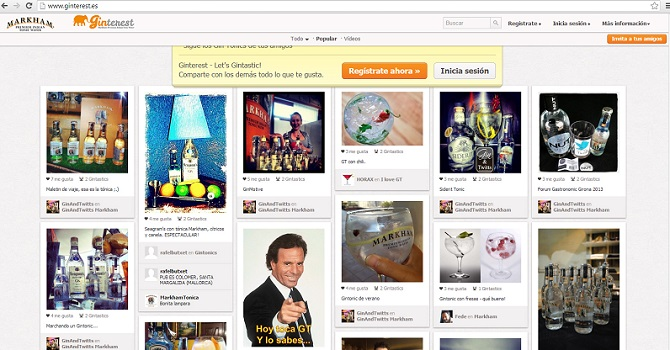 GINTEREST, la red social del gin tonic