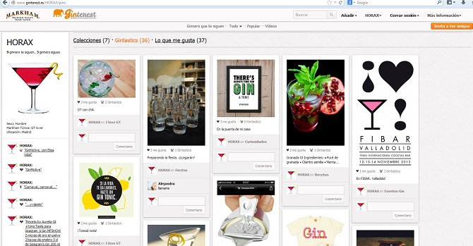 GINTEREST, la red social del gin tonic