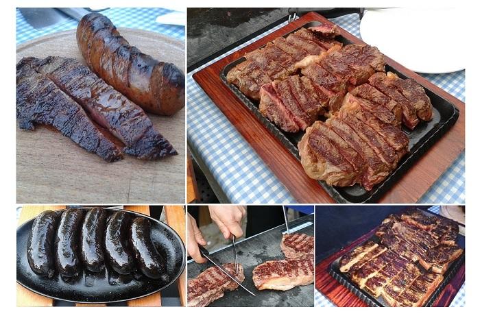 Cortes de carne en El Viejo Almacén de Buenos Aires, Madrid