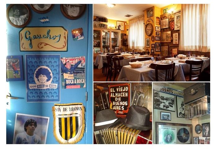 Detalles del interior de El Viejo Almacén de Buenos Aires, Madrid