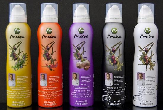 Maeva, aceites de sabores en spray