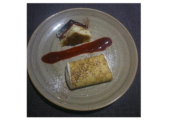 Filloa rellena y Tarta de queso gallegas