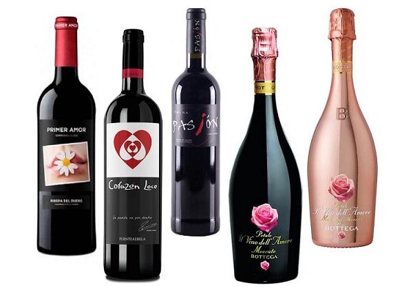 Vinos para regalar en San Valentín