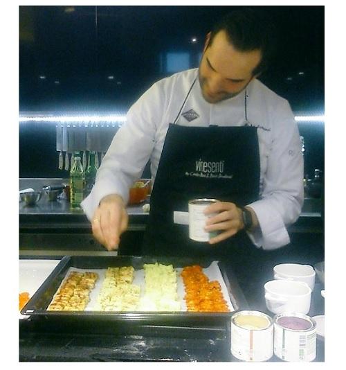 El chef Mario Sandoval utiliza Vinesenti en sus platos