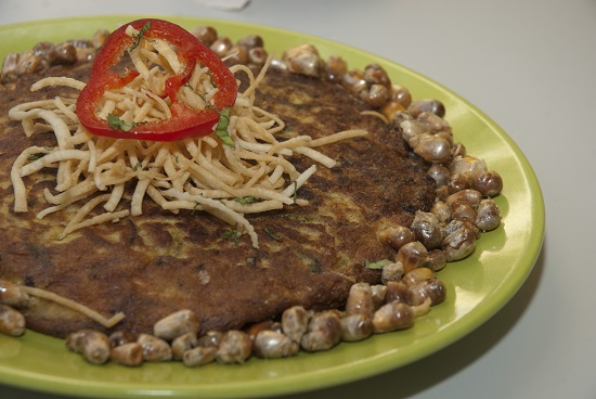 Tortilla de raya. Cocina peruana (c) Flor Ruiz