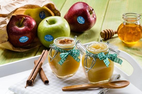 Mousse de manzanas Marlene® enriquecida con canela y miel de castaño