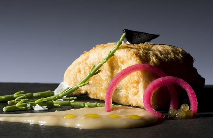 Merluza a 45º, uno de los platos de las Jornadas Gastronómicas del Mar en Ribadesella