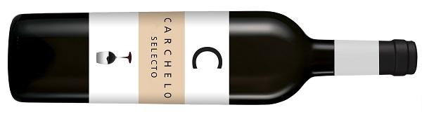 Botella de vino Carchelo Selecto para Navidad