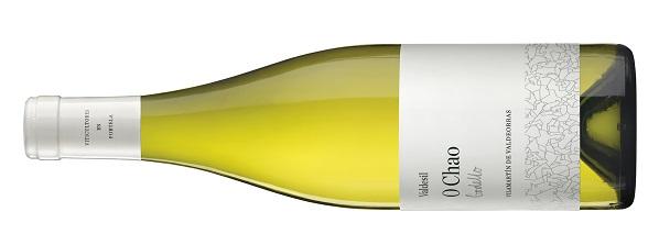 Botella de vino blanco O Chao