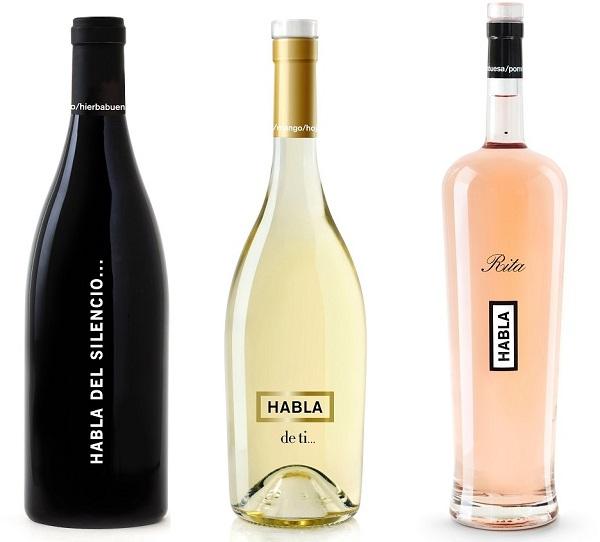 Vinos HABLA para Navidad, tinto, blanco y rosado